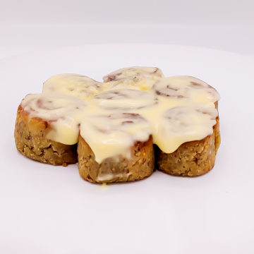 The KETO Kitchen Cinnamon Bites with Cream Cheese Frosting
