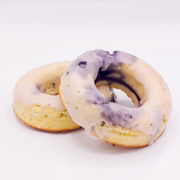 The KETO Kitchen Donuts Blueberry Lemon